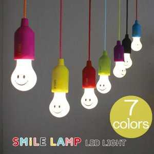 LEDライト インテリア 子供部屋 キャンプ スマイルライト LED ライト 選べる7色 ガレージ クローゼット ロッカー |estoah