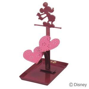 ピアススタンド アクセサリースタンド ジュエリースタンド ディズニー ミッキーマウス レッド 雑貨 インテリア 小物|estoah