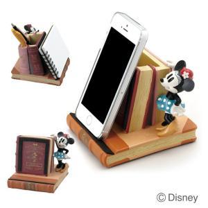 文具 かわいい マルチスタンド ディズニー  大 ミニー スマホスタンド 写真立て カード立て インテリア 雑貨|estoah
