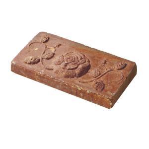 レンガ 煉瓦 ブロック 敷き 敷石 アンティークブリックス アートレリーフ ローズ レッド 並形半平 単品  diy estoah