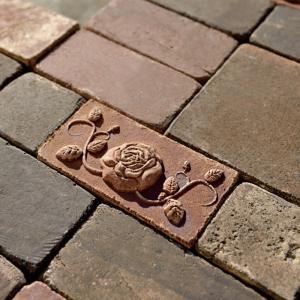 レンガ 煉瓦 ブロック 敷き 敷石 アンティークブリックス アートレリーフ ローズ レッド 並形半平 単品  diy estoah 02