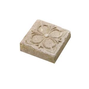 レンガ 煉瓦 ブロック 敷き 敷石 アンティークブリックス アートレリーフ フラワー ミドルベージュ 並形半平 単品  diy|estoah