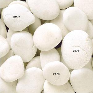 砂利 庭 駐車場 玉石 インドネシア 天然石 ペブルストーン ホワイト 20kg/袋 花壇砂利 直径40〜70mm内外  diy 玄関 アプローチ estoah