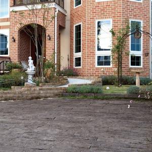 庭 敷石 ストーンステップ 飛石 踏石舗装アイテム 敷材 コンクリート製 古枕木 日本 オンリースリーパー ベイブ360〜390(1枚単位)|estoah|08
