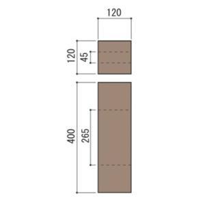 庭 花壇 仕切り 土留め ブロック 柱 コンクリート製 古枕木 日本 オンリースリーパー フィットコーナー用柱 1本体 ガーデニング diy 屋外床 玄関 アプローチ|estoah|02