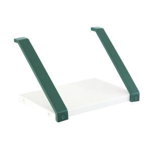庭 玄関 エントランス 棚 シェルフtype06 棚受け金具フォレストグリーン 天板付 W200×H145×D168 セット品 上下反転使用可能 アプローチ プランター台 diy|estoah