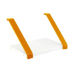 庭 玄関 エントランス 棚 シェルフtype06 棚受け金具オレンジ  天板付 W200×H145×D168 セット品 上下反転使用可能 アプローチ プランター台 diy|estoah