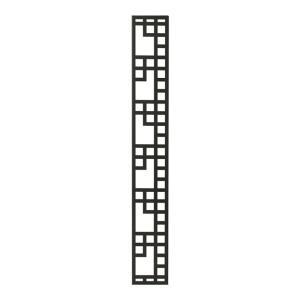 壁飾り 外壁 ウォールアクセサリー 亜鉛鋼板(焼付塗装) シャドーピクチャー ストレートタイプ デザインC 取付ピン付属 装飾 製作品 diy|estoah