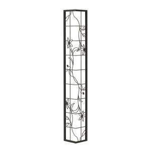 壁飾り 外壁 ウォールアクセサリー 亜鉛鋼板(焼付塗装) シャドーピクチャー コーナータイプ デザインE 取付ピン付属 装飾 製作品 diy|estoah