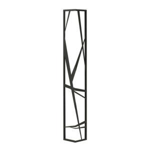 壁飾り 外壁 ウォールアクセサリー 亜鉛鋼板(焼付塗装) シャドーピクチャー コーナータイプ デザインF 取付ピン付属 装飾 製作品 diy|estoah