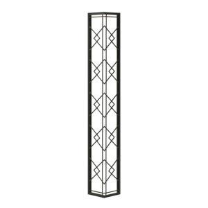 壁飾り 外壁 ウォールアクセサリー 亜鉛鋼板(焼付塗装) シャドーピクチャー コーナータイプ デザインG 取付ピン付属 装飾 製作品 diy|estoah