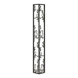 壁飾り 外壁 ウォールアクセサリー 亜鉛鋼板(焼付塗装) シャドーピクチャー コーナータイプ デザインH 取付ピン付属 装飾 製作品 diy|estoah