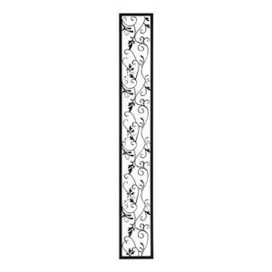 アイアン 壁飾り 外壁 ウォールアクセサリー アールパネルW150×H1100 防錆処理  取付棒付属 装飾 製作品 diy|estoah