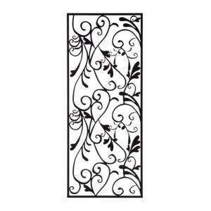 アイアン 壁飾り 外壁 ウォールアクセサリー アールパネルW450×H1100 防錆処理  取付棒付属 装飾 製作品 diy|estoah