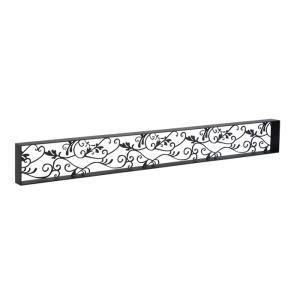 アイアン 壁飾り 外壁 ウォールアクセサリー アールパネルW1080×H130(枠付き) 防錆処理 装飾 製作品 diy|estoah