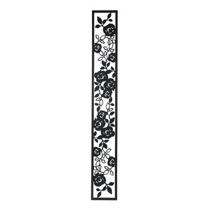 アイアン 壁飾り 外壁 ウォールアクセサリー 薔薇 ローズパネルB W150×H1100 防錆処理  取付棒付属 バラ 装飾 製作品 diy|estoah