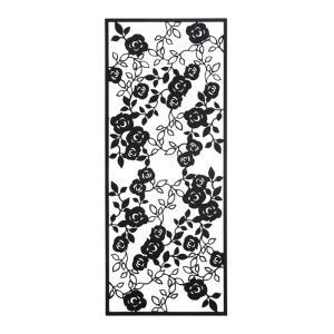 アイアン 壁飾り 外壁 ウォールアクセサリー 薔薇 ローズパネルB W450×H1100 防錆処理  取付棒付属 バラ 装飾 製作品 diy|estoah