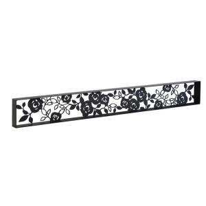アイアン 壁飾り 外壁 ウォールアクセサリー 薔薇 ローズパネルB W1080×H130(枠付き) 防錆処理 バラ 装飾 製作品 diy|estoah