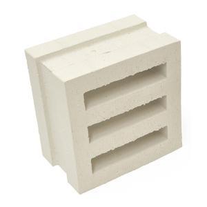 ブロック 塀 アプローチ エントランス レンガ セラボックス EYE(アイ) 基本 ホワイト (配筋溝あり・4本溝) 1個単位 屋外壁 diy estoah