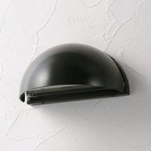 LED仕様 屋外用照明 ゲートランプ 門灯 半円型 【ブラック】