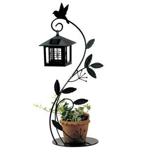 ソーラーライト 屋外 照明 ガーデンライト LED センサー付 ソーラーライト 庭 照明 小鳥と葉っぱのオーナメント 外灯 照明器具 おしゃれ|estoah