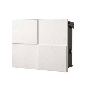 モダン郵便受けポスト パーサス2 DECO 07ホワイト 壁付け 鍵付き