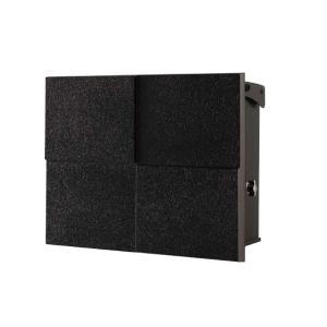 モダン郵便受けポスト パーサス2 DECO 07ブラック 壁付け 鍵付き