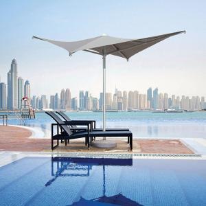 ガーデンパラソル 日よけパラソル スコラロ社 イタリア製 高級パラソル ウ゛ェーラ グレー 暑さ対策 紫外線対策|estoah