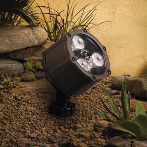 ローボルト ガーデンライト 庭園灯 12V テクニカルライト LED スポット 3LED (狭角 中角)スポットライト 照明 屋外 看板 演出照明 外灯 電球色 4.5W|estoah