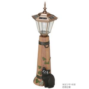 ソーラーライト 屋外 照明 ガーデンライト LED センサー付 ソーラーライト 庭 照明 猫のオーナメント バーレル 大 外灯 照明器具 おしゃれ|estoah|03
