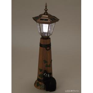 ソーラーライト 屋外 照明 ガーデンライト LED センサー付 ソーラーライト 庭 照明 猫のオーナメント バーレル 大 外灯 照明器具 おしゃれ|estoah|04