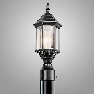 ガーデンライト 庭園灯 屋外 照明 スタンドライト レトロ 49256BK KICHLER キチラー 玄関 門柱灯 門灯 外灯 アンティーク風器具 E26 白熱灯60W|estoah