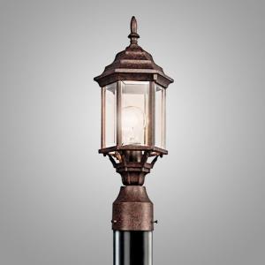 ガーデンライト 庭園灯 屋外 照明 スタンドライト レトロ 49256TZ KICHLER キチラー 玄関 門柱灯 門灯 外灯 アンティーク風器具 E26 白熱灯60W|estoah