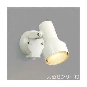 屋外 照明 スポットライト LED付 人感センサー付 タイマー付 ON-OFFタイプ 白熱球100W相当 散光  防雨型 オフホワイト 照明器具|estoah