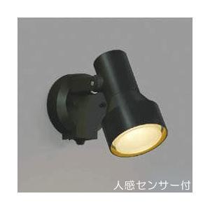 屋外 照明 スポットライト LED付 人感センサー付 タイマー付 ON-OFFタイプ 白熱球100W相当 散光  防雨型 黒色 照明器具|estoah