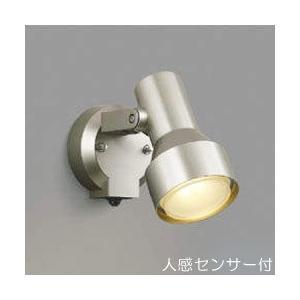 屋外 照明 スポットライト LED付 人感センサー付 タイマー付 ON-OFFタイプ 白熱球100W相当 散光  防雨型 ウォームシルバー 照明器具|estoah