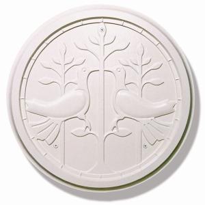 妻飾り 壁飾り IT4505 クラッシクホワイト  シンボル アイアン風壁飾り アルミ鋳物 エクステリア 外壁工事|estoah