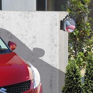 駐車場 車庫 カーブミラー 鏡 道路反射鏡 おしゃれなガレージミラー リーフ|estoah|04