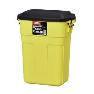ゴミ箱 ごみ箱 ふた付き おしゃれ ダストボックス トラッシュカン 30リットル 30L イエロー 黄 屋内 室内 キッチン アメリカン かわいい|estoah