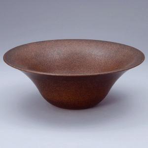 洗面 洗面ボール 洗面ボウル 手洗い鉢 洗面台 陶器 洗面 ボール ボウル コゲ窯肌 置き型直径330ミリ|estoah