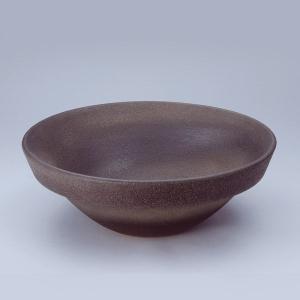洗面 洗面ボール 洗面ボウル 手洗い鉢 洗面台 陶器 洗面 ボール ボウル 古窯肌 半埋型直径400ミリ|estoah