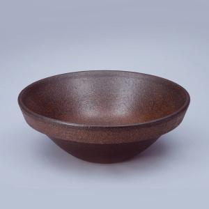 洗面 洗面ボール 洗面ボウル 手洗い鉢 洗面台 陶器 洗面 ボール ボウル コゲ窯肌 半埋型直径400ミリ|estoah
