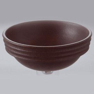 洗面 洗面ボール 洗面ボウル 手洗い鉢 洗面台 陶器 洗面 ボール ボウル コゲ窯肌 半埋型直径270ミリ|estoah