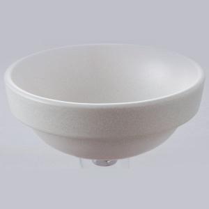 洗面 洗面ボール 洗面ボウル 手洗い鉢 洗面台 陶器 洗面 ボール ボウル チタンマット 半埋型直径270ミリ|estoah