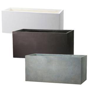 プランター 植木鉢 大型 長方形植木鉢 ファイバープランター ラムダ スリム 80×30×30cm  ガーデニング 園芸用品|estoah