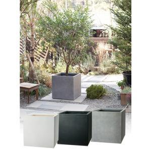 プランター 植木鉢 大型 ファイバープランター ベータ 45×45×45cm  ガーデニング 園芸用品|estoah