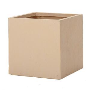 プランター 植木鉢 大型 ファイバープランター ベータ インド砂岩 45×45×45cm  ガーデニング 園芸用品|estoah