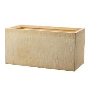 プランター 植木鉢 大型 ファイバープランター ラムダ インド砂岩 80×40×40cm  ガーデニング 園芸用品|estoah