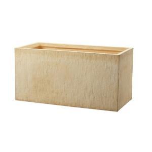 プランター 植木鉢 大型 ファイバープランター ラムダ インド砂岩 60×30×30cm  ガーデニング 園芸用品|estoah