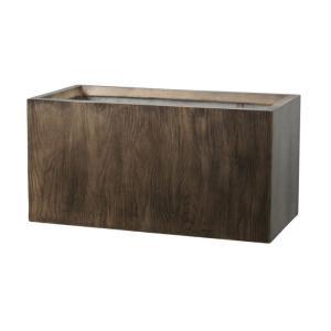プランター 植木鉢 大型 ファイバープランター ラムダ ウッド 60×30×30cm  ガーデニング 園芸用品|estoah